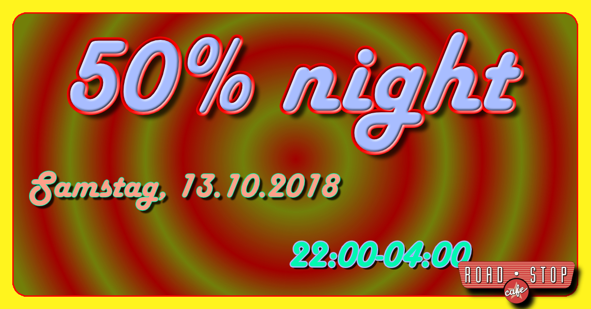 Plakat 50% Night Road Stop Cafe