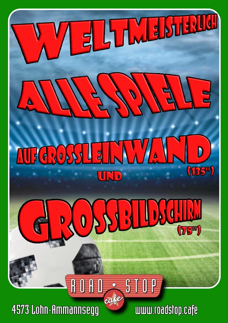 Alle Spiele der Fussball WM auf Grossleinwand