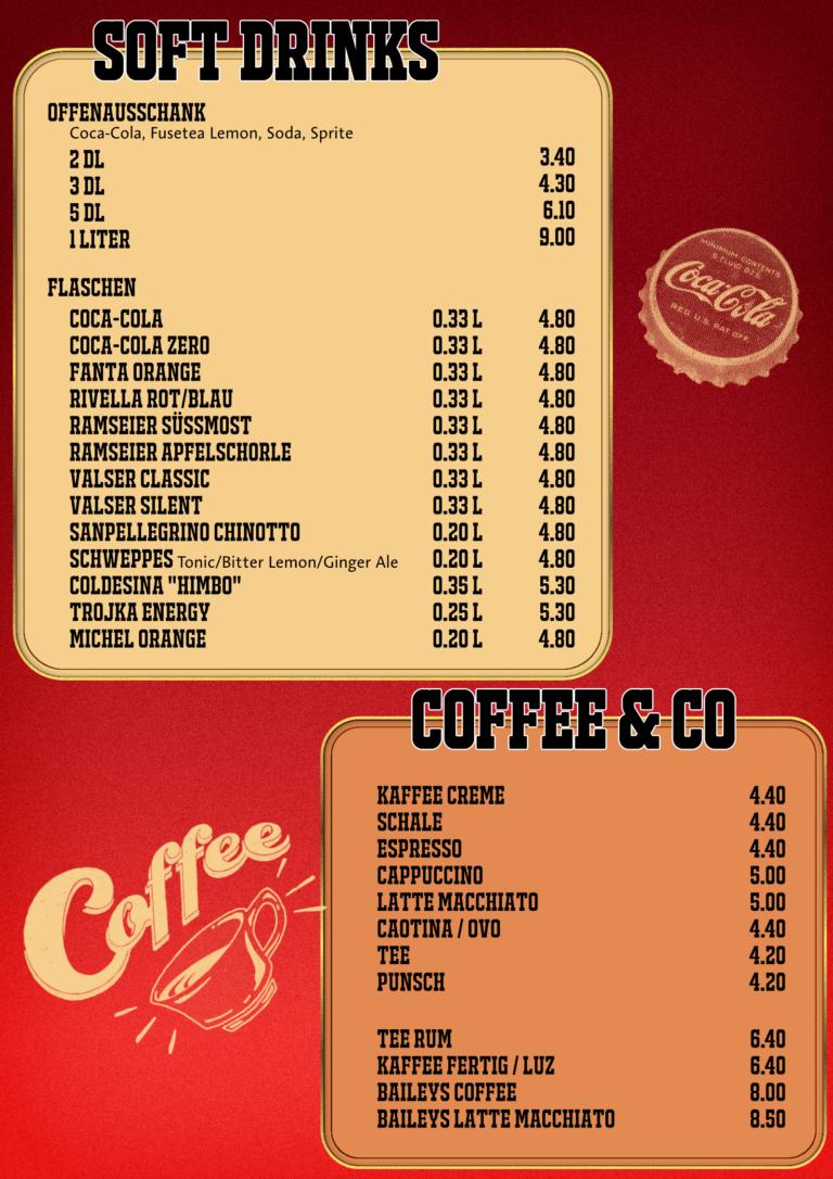 Mineral / Kaffee